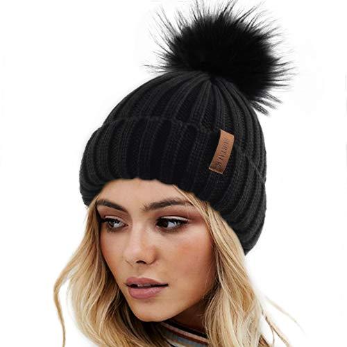 FURTALK Womens Winter Knitted Be...