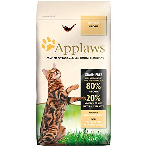 Applaws Comida seca para gatos, pollo/adulto, 2 kg ⭐