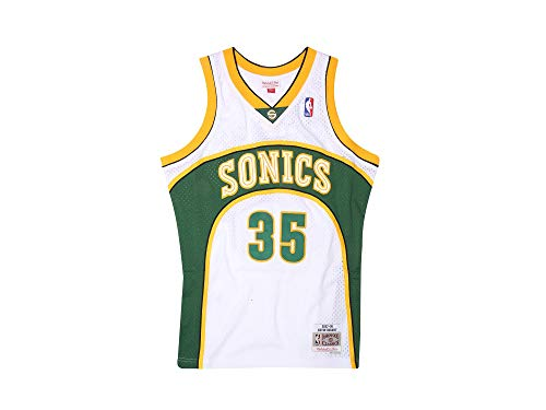 Mitchell & Ness Durant 35 Replica Swingman Seattle Sonics NBA Jersey White HWC Basketball Trikot