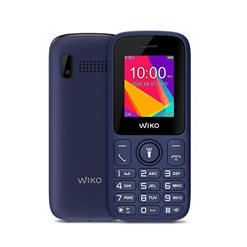 """Wiko F100 – Teléfono móvil Libre con Teclas de 1,8"""" (Dual SIM, batería de 800mAh para una Gran autonomía, Radio FM, Reproductor MP3, admite microSD, Linterna, Bluetooth, cámara Trasera), Color Azul"""