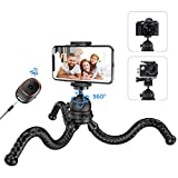 Phone Tripod, Mpow Flexible Travel Tripod for Cell Phone Camera with Bluetooth V5