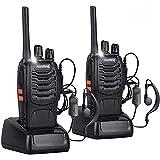 Nestling 2pz Walkie Talkie,88E Lunga Distanza 16 Canali Due-Via Radio - FM Ricetrasmettitore Handheld con LED Luce Auricolare ed Auricolari Originali