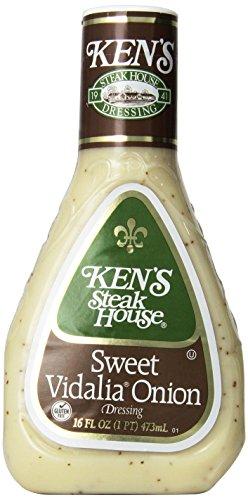 Ken's Steak House Regular Sweet Vidalia Onion Dressing 16 Ounces (Pkg of 3)