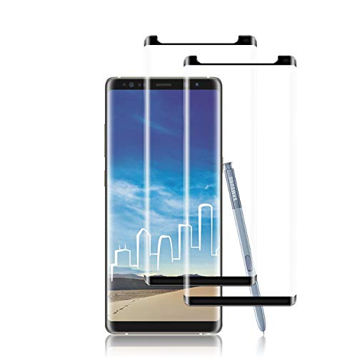 Galaxy Note 8 Screen Protector by YEYEBF, [2 Pack] Full Coverage Tempered Glass Screen Protector [Bubble-Free] [3D Glass] [Anti-Glare] Screen Protector Glass for Samsung Galaxy Note 8