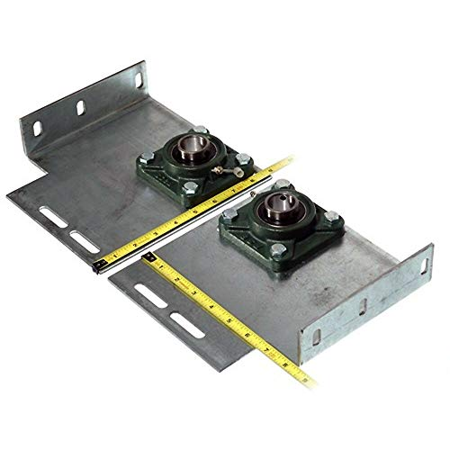 Great Deal! Heavy Duty Garage Door End Bearing Plates 6 Inch Offset (Pair)