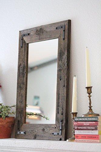 Rustic Wall Mirror - Wall Mirror - 18 x 24 Vanity Mirror - Bathroom Mirror - Rustic Mirror - Reclaimed Wood Mirror - Bathroom Vanity