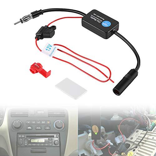 Antennenverstärker Autoradio, Auto Antennenverstärker, Fahrzeugmontierte Antenne, 12V FM-Radio Booster Fahrzeug Boost Antennenverstärker