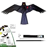 YomyRay Birds Scarer Hawk Flying Kite Simulated Hawk Flash Reflective Scare,Wind Power Professional Pigeon Scarer Device for Outdoor Home Garden Farm Scarecrow (One Set)