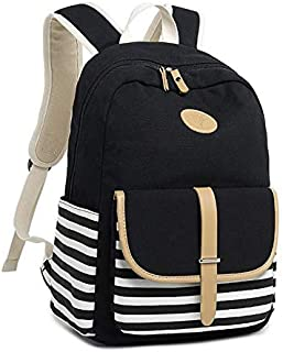 Lumcrissy 4 in 1 School Backpack Sets For Girls and Women, Canvas Lightweight Shoulder Bags