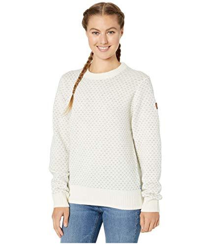 Fjällräven Damen Sweatshirt Övik Nordic Sweater W, Chalk White, S, 89749