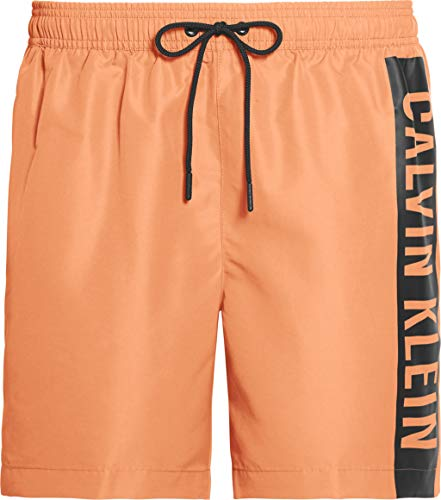 Calvin Klein Herren Medium Drawstring Badehose, Pink (Cadmium Orange TBI), Small