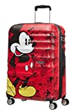 American Tourister Wavebreaker Disney - Spinner M Koffer, 67 cm, 64 L, Rot (Mickey Comics Red)