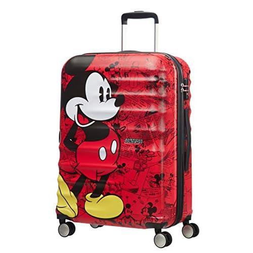 American Tourister Wavebreaker Bagaglio a Mano Disney, Spinner M (67 cm - 64 L), Rosso (Mickey Comics Red)