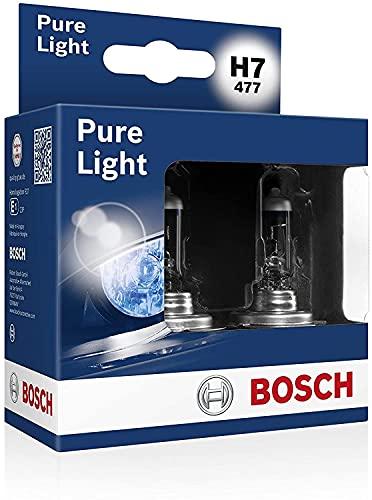 Bosch H7 Pure Light lampes de phare - 12 V 55 W PX26d - 2 ampoules