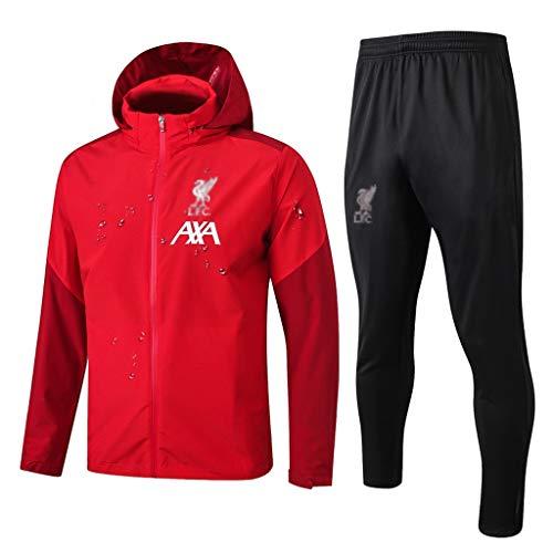 Europäischer Fußball-Verein T-Shirt Sportfußballtraining Uniform Sweatshirt Windjacke (Multiple-Choice) (Color : Red, Size : XL)