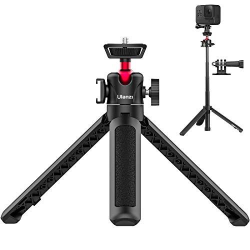 【令和新版】ULANZI MT-16 三脚 自撮り棒 ミニ三脚 カメラ三脚 4段伸縮 コールドシュー付き 軽量 持ち運びに便利 雲台などに対応 iphone/Gopro9 8 7 6/Osmo Pocket1 2 ZV-1 RX100 M1-M6 A6400 A6500 A6600 Canon G7X Mark IIIアクションカメラに適用