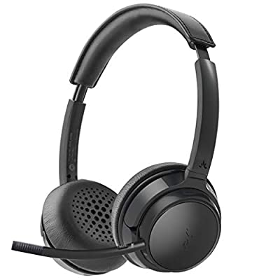 Avantree AH6B Bluetooth 5.0 Headset with Detachable Microphone, Mute Function, Clear Talk, HiFi Music, Soft Padding, Wireless Headphones for Professionals, Mac, PC, Computer, Laptop, Skype, Cell Phone from Avantree