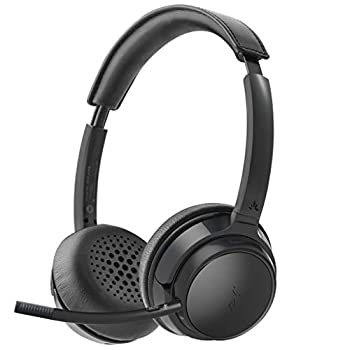 Avantree AH6B Bluetooth 5.0 Headset with Detachable Microphone Clear Talk Mute Function HiFi Music Soft Padding 22H Talk Time Wireless Headphones for Mac PC Computer Laptop Skype Cell Phone
