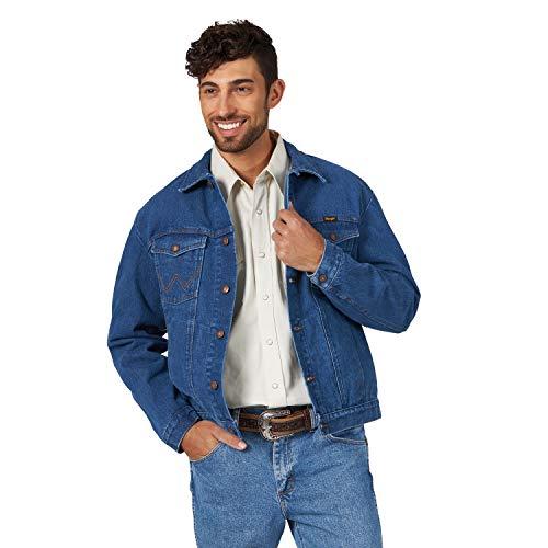 Wrangler Men's Western Style Unlined Denim Jacket, Midstone, X-Large