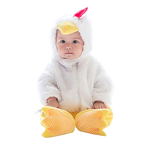 wetry - 3PC Bebé Halloween Carnaval Cosplay Traje Romper + Sombrero + Pie Cubrir Ropa Conjuntos Unisex