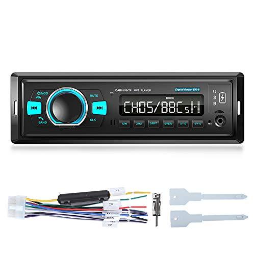 Yctze Radio Digital Dab Radio con Bluetooth Lectura de Tarjeta Lectura de Puertos USB duales Receptor Digital Reproductor Multimedia Digital Radio FM/Am Manos Libres