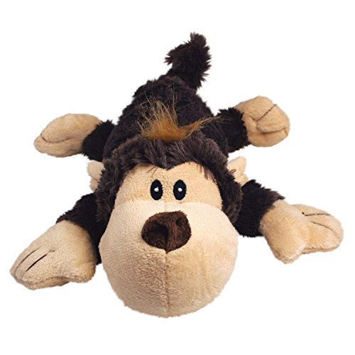 KONG Cozie Funky Monkey, Squeaky Plush Dog Toy, for Medium Dogs