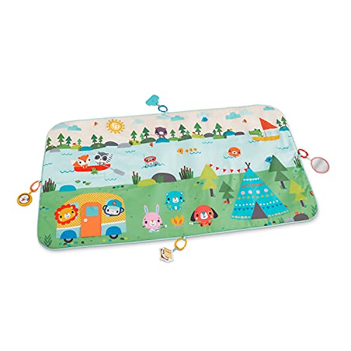 Fisher-Price Extra Big Adventures Play Mat, 60-inch Long Activity mat with Toys for Newborns and Infants