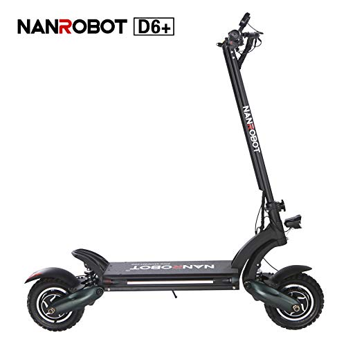 NANROBOT D6+ High Speed Adult Scooter-10 inch Tires,2000W Motor Power Allow for 34~40 MPH Speed,40~45 Miles Range and 330lb Load (D6+ (Hydraulic Disc Brake)