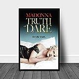 Liuqidong Cuadros Decorativos Madonna Truth or Dare Movie Poster Decoración de la Pintura de la Pared del hogar 60x90cm
