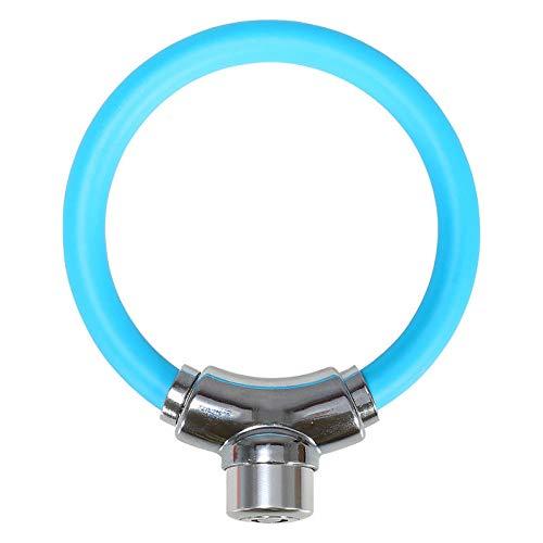 Fietsslot, ringslot, anti-diefstal stalen kabelslot, draagbare mini-ringslot, klein zacht slot fiets Blauw