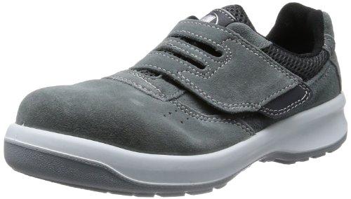 [ミドリ安全] 安全靴 JIS規格 マジックタイプ スニーカー G3555 メンズ グレー 25.5