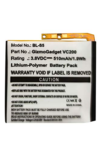 Replacement Battery for BL-S5 LG GizmoGadget LG VC200 LG BL-S5