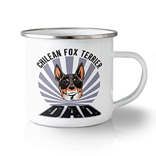 N\A Taza de Viaje irrompible, 11 onzas, papá, Perro Fox Terrier chileno, diseño de Taza de té de Aluminio Solamente