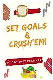 Set Goals & Crush'em. 90 Day Diet Planner: Food Journal. Recipe Journal. Notebook Organizer. Meal Recorder&Organizer. Water Intake&Sleep Tracker. ... (90 Day Food Activity Sleep Water Tracker)