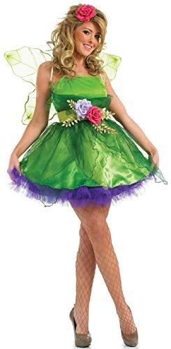 Fancy Me Femmes fée nymphe Lutin Costume déguisement Halloween Costume UK 6-26 Grande Taille - Vert, UK 12-14