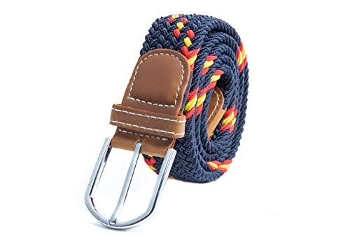 RAU Cinturon con la bandera de españa trenzado elástico (talla desede la 100 a 130)