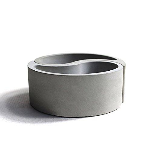 SHZONS Concrete Flowerpot Molds Silicone Molds Gossip Model Concrete Tabletop Composite Flowerpot