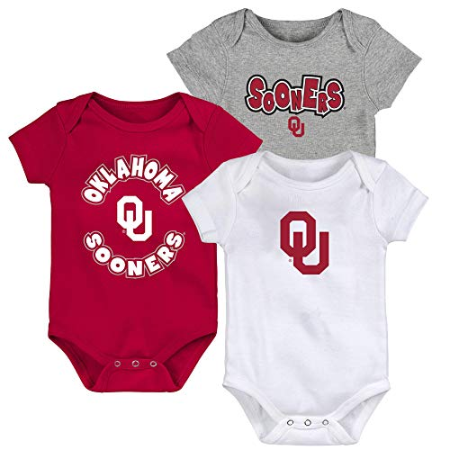 Outerstuff Oklahoma Sooners Infant Baby Everyday Fan 3 Piece Creeper Set (3-6 Months)