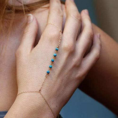Handcess Boho - Pulseras de oro con arnés de mano para mujeres y niñas