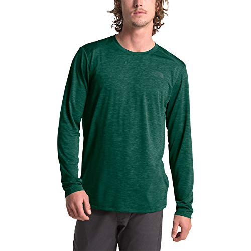 The North Face Men's Hyperlayer FD Long-Sleeve Crew, Night Green Heather, S