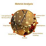 Lichterkette Sterne, Se-Mirrorworld LED Lichterketten USB 3m 20 LEDs Warmweiße Sternen, Blinken, für Kinderzimmer, Balkon, Geburtstag, Wand, Weihnachten, Dekoration [Energieklasse A+++] - 5