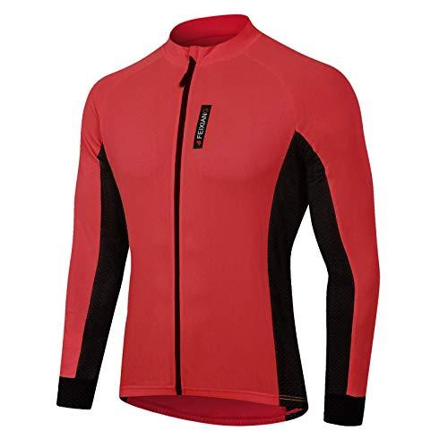 MEETWEE Magliette Ciclismo Uomo, Manica Lunga Maglietta Mountain Bike Abbigliamento Cycliste Maglia