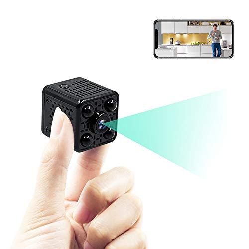 LXMIMI Mini Telecamera Spia, 1080P HD WiFi Telecamera Nascosta, 140° Grandangolare Mini Camera WiFi con Visione Notturna e Rilevamento del Movimento