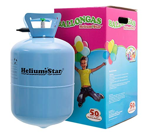 Helium Ballongas HeliumStar Einwegflasche für bis zu 50 Luftballons 25cm Ø o. 27 Folienballons 45cm Ø Geburtstag Party Hochzeit