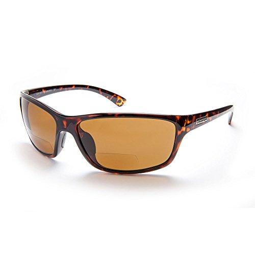 Urbanium Eyewear Modell London – sportliche Sonnenbrille in havanna-braun mit braunen Gläsern - polarisierend mit unauffälligen Lesefenster im unteren Bereich der Gläser. Mit Addition +2.00