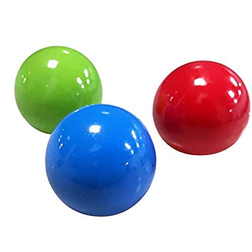 SHENGYI Balls Can Be Glued to The Ceiling Or On The Wall,Stress Relief Balls,Sticky Ball,Dodgeball Game Juggling Ball,Game Catch Ball for Children Parents (1PCS,3PCS,5PCS)