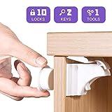 HebyTinco Kit Seguridad Bebe Baby Proofing, Cerraduras Invisible Magnéticas de Seguridad para Niños, Cierres de seguridad Para Cajones Armarios,Bloqueo,Sin Perforaciones (10 cerraduras + 2 llaves)