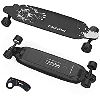 COOL & FUN: Electric Skateboard brings you beautiful scenery, designing for happy time and cool cruising. Buy it now and begin joyful journey of electric longboard.(Maintain safety with UL certified battery) MULTIFUNCTIONAL REMOTE: Portable electric ...