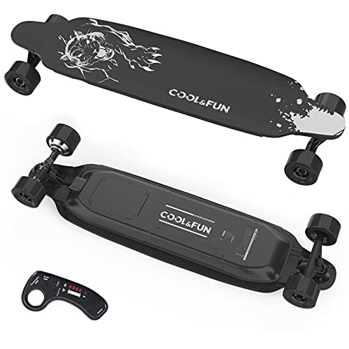 COOL&FUN Electric Skateboard with Remote Control, 400W Brushless Electric Longboard, 20 MPH Top...
