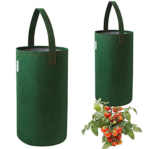 Hete-supply Paquet de 2 jardinières en Tissu, Sacs de Culture, Sac de Culture en Feutre de Tomate, Sachet de Fleurs pour Plantes suspendues, Pot de Plantation de Fraises de Jardinage